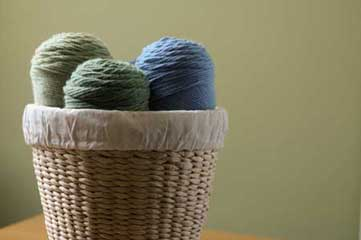 yarn in basket